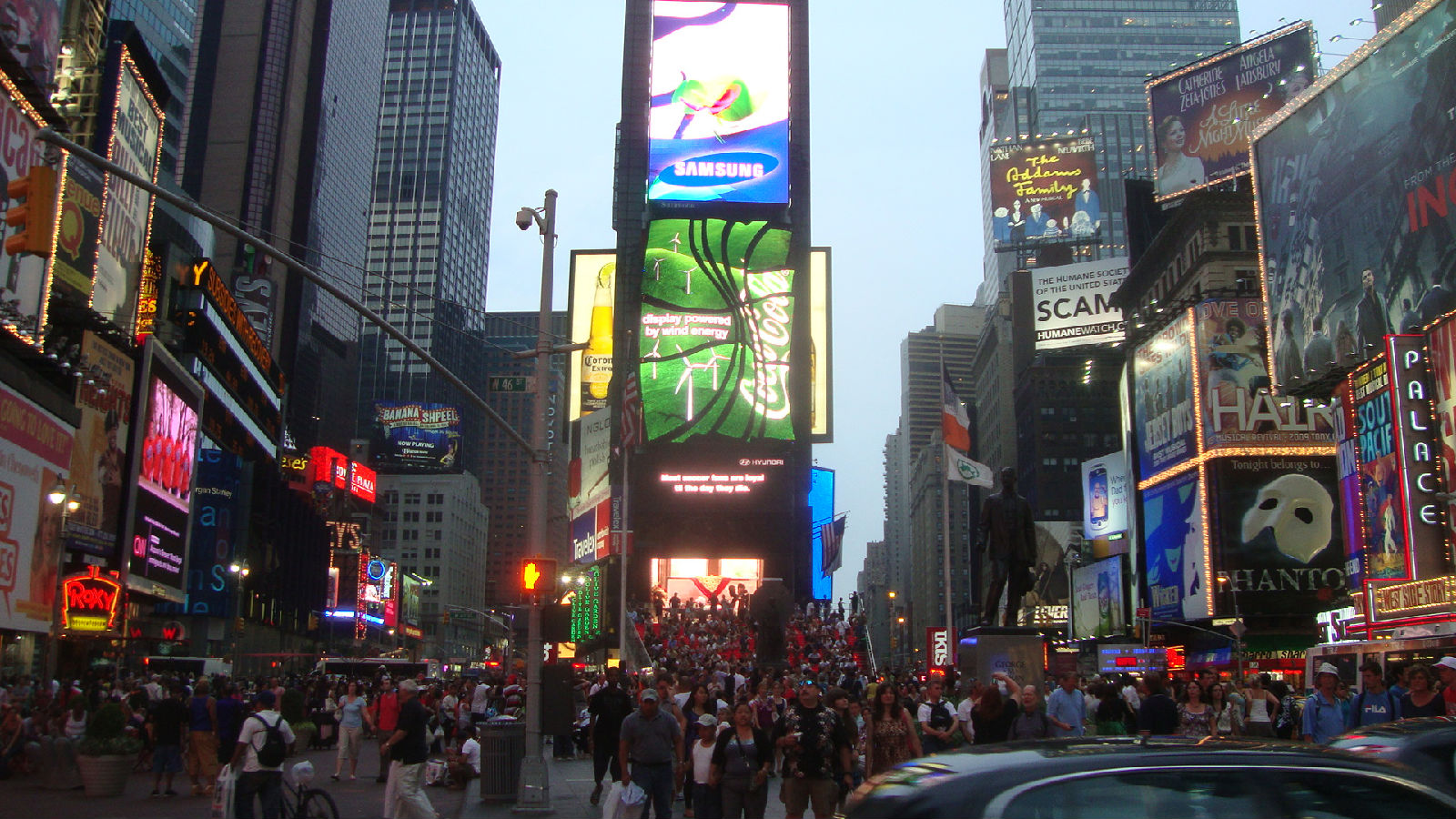 纽约街景和时代广场__